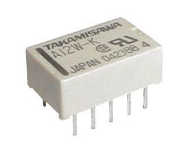 Relé 24V 0.5A/125VAC  2x přep.  A24W-K