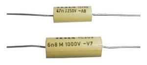 Kondenzátor svitkový   6N8/100V TC205            C