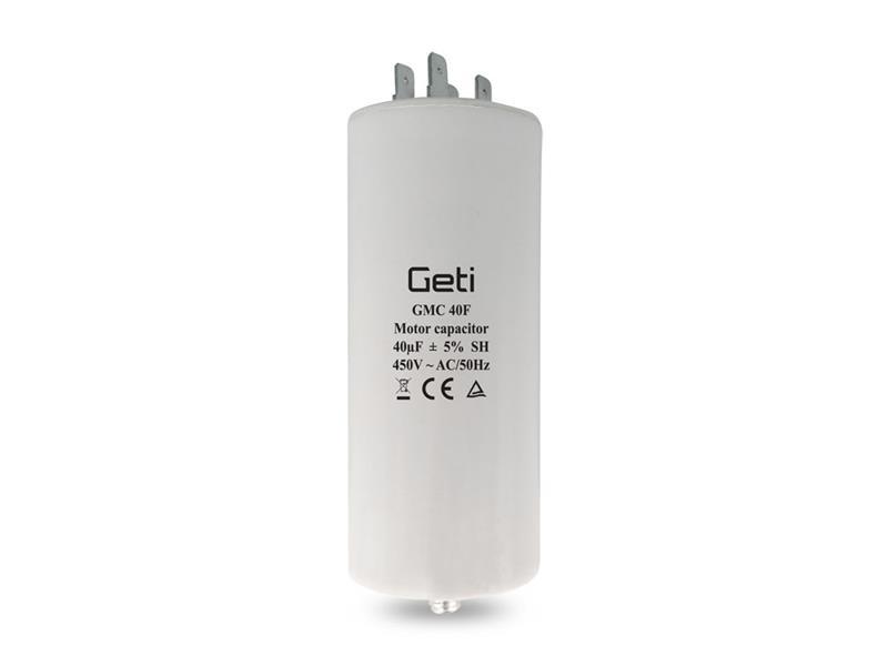 Kondenzátor rozběhový motorový 40uF 450V GETI GMC 40F
