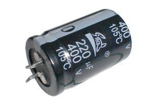 Kondenzátor elektrolytický 220M/400V 25x42-10 105*C rad.C SNAP-IN