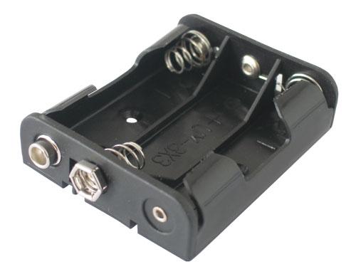Pouzdro baterie  R6x3  vedle sebe