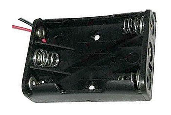 Pouzdro baterie R03x3 vedle sebe s vývody 15cm