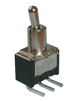 Přepínač páčkový    3pol./3pin  ON-OFF-ON plošný spoj