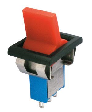 Přepínač páčkový    2pol./3pin  ON-ON plastic/II  12V