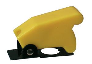 Přepínač páčkový  ochran.kryt -  žlutý