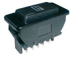 Přepínač kolébkový auto 20A/12VDC prosvětlený