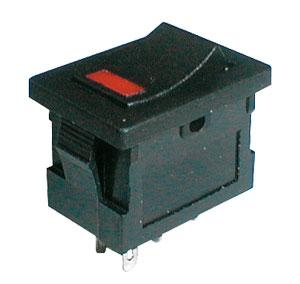 Přepínač kolébkový     2pol./4pin  ON-OFF 250V/3A LED červený
