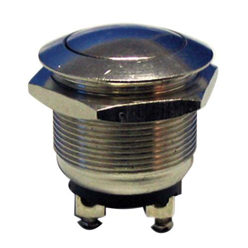 Přepínač tlačítko kul. OFF-(ON) kov-typ1 (12V)