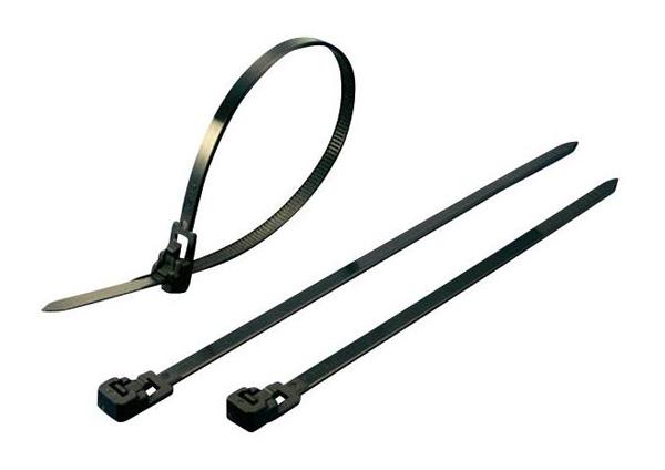 Stahovací rozepínací pásek KSS HVCR125BK, 125 x 7,6 mm, černý