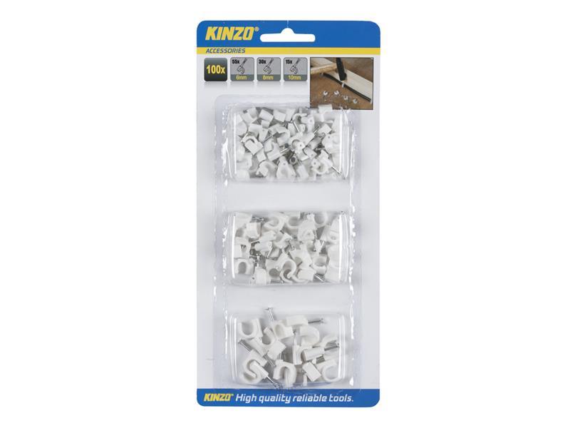 Příchytka kabelová Kinzo 100ks, 3 velikosti