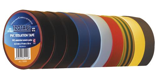Páska izolační PVC 19/20m  barevný mix 10ks