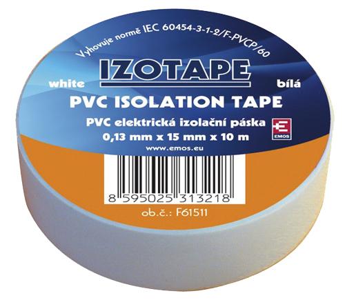 Páska izolační PVC 15/10m  bílá