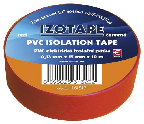 Páska izolační PVC 15/10m  červená