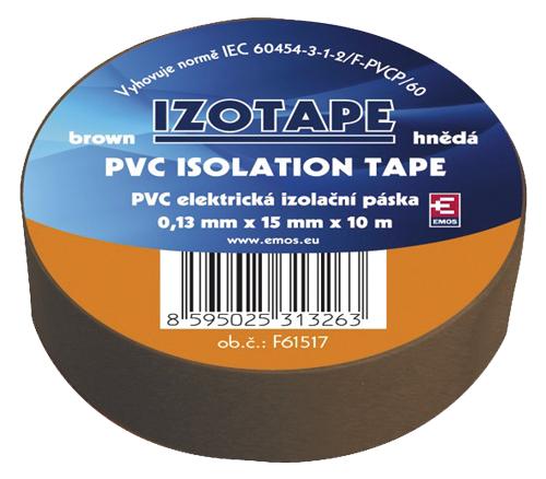 Páska izolační PVC 15/10m  hnědá