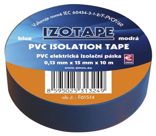 Páska izolační PVC 15/10m  modrá