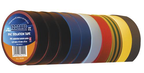 Páska izolační PVC 15/10m  barevný mix 10ks