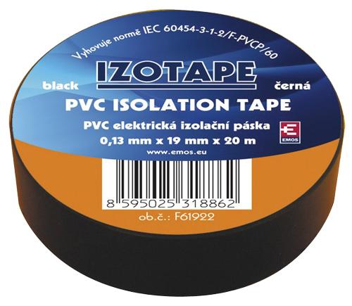 Páska izolační PVC 19/20m  černá EMOS