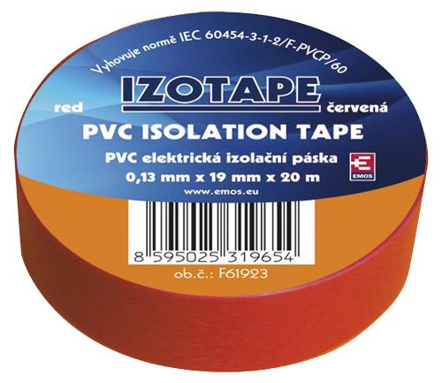 Páska izolační PVC 19/20m  červená