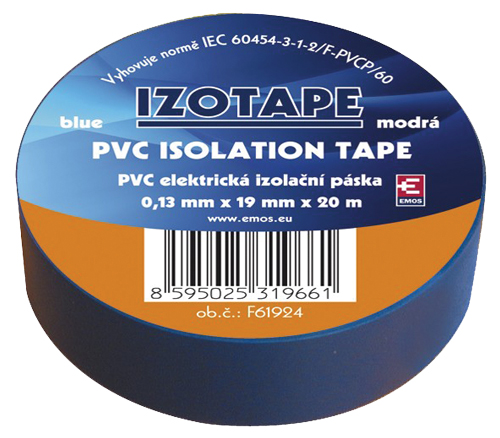 Páska izolační PVC 19/20m  modrá EMOS