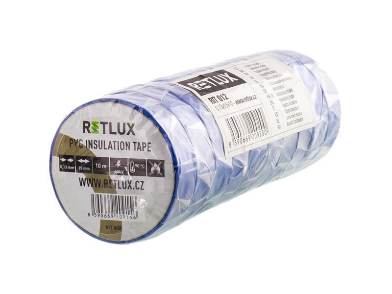 Páska izolační PVC 15/10m modrá RETLUX RIT 012 10ks