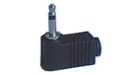 Konektor Jack 3.5  mono úhlový plast