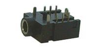 Zdířka 3.5 stereo plošný spoj plast+2přep.kontakty