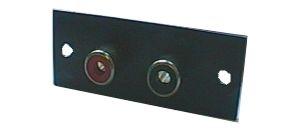 Zdířka CINCH panel 2x na podložce  20x52mm