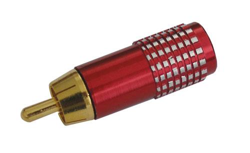 Konektor CINCH kabel kov zlatý  pr.7mm červený HQ