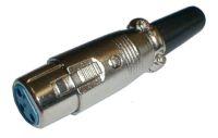 Zdířka MIC kabel kov  3PIN
