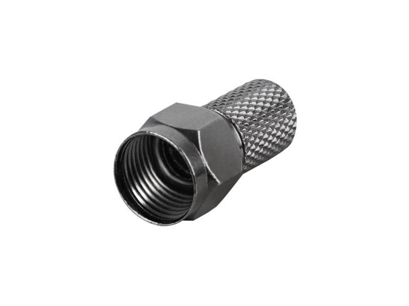 Konektor F HQ 7.0mm gum. kroužek, černý