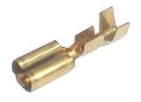 Zdířka faston  neizolovaná 6.3mm  blokáda