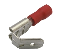 Zdířka faston rozvaděč 6.3mm, vodič 0.5-1.5mm  červený