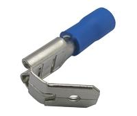 Zdířka faston rozvaděč 6.3mm, vodič 1.5-2.5mm  modrý