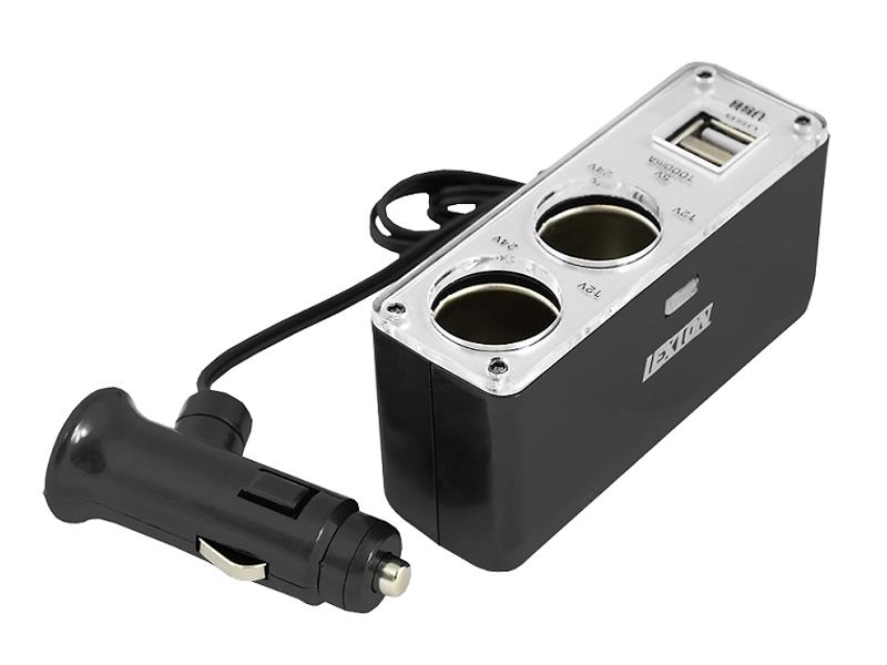 Autoadaptér 2x 12/24V, 2x USB