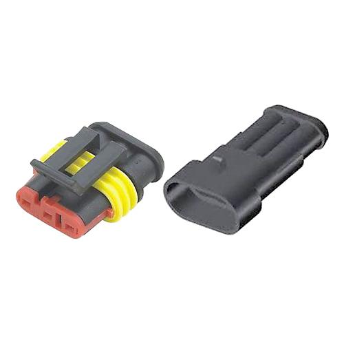 Konektor se zdířkou DJ7031-1.5-11+DJ7031-1.5-21 3P vodotěsný