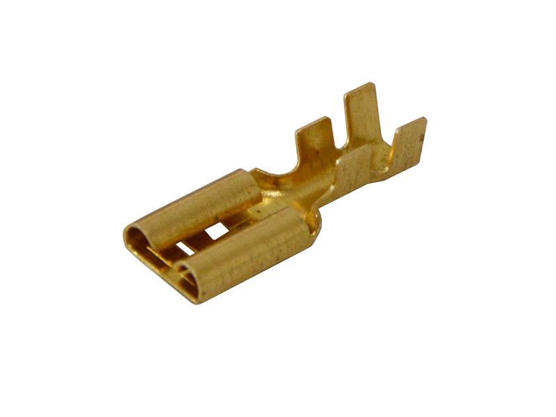 Zdířka faston  neizolovaná 9.5mm   2-4mm blokáda
