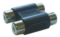 Spojka CINCH kabel/ 2xzdířka-2xzdířka