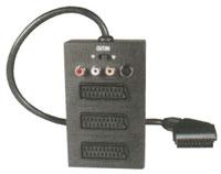 Redukce Scart konektor / 3 x Scart zdířka + 3 x CINCH + SVHS