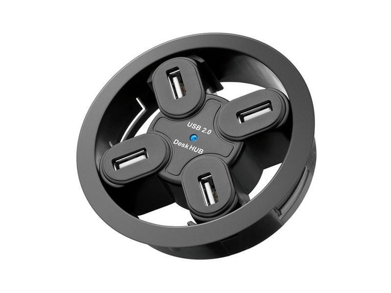 Goobay - redukce USB hub 4 porty, k zapuštění