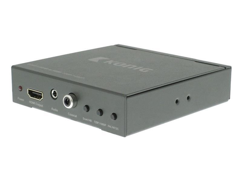 Převodník 1x SCART vstup - 1x HDMI výstup KÖNIG KNVCO3420