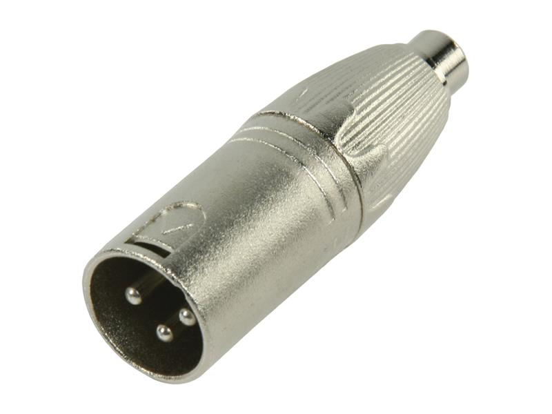 Redukce XLR 3pin zástrčka - CINCH zásuvka KÖNIG PBXM-RF