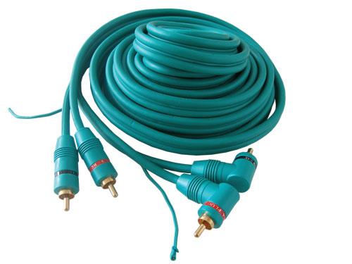 Kabel 2xCINCH - 2xCINCH   5.0m středový vodič, úhlový