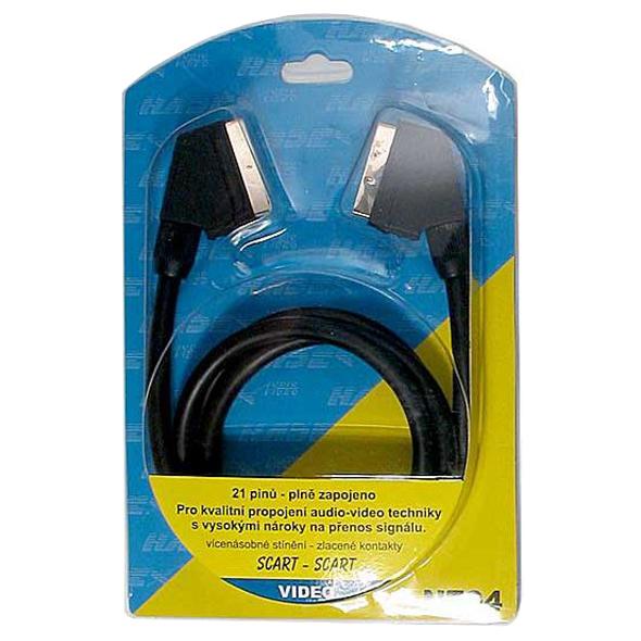 Kabel TIPA SCART/SCART 21PIN 1,5m blistr