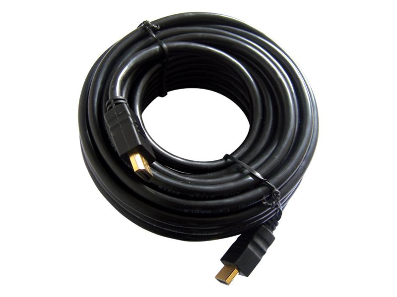 Kabel HDMI - HDMI 10m (gold,ethernet)