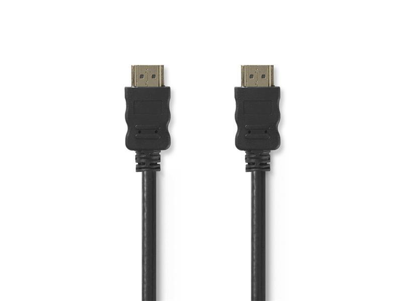 Kabel 1x HDMI konektor - 1x HDMI konektor 0.5m NEDIS CVGT34000BK05
