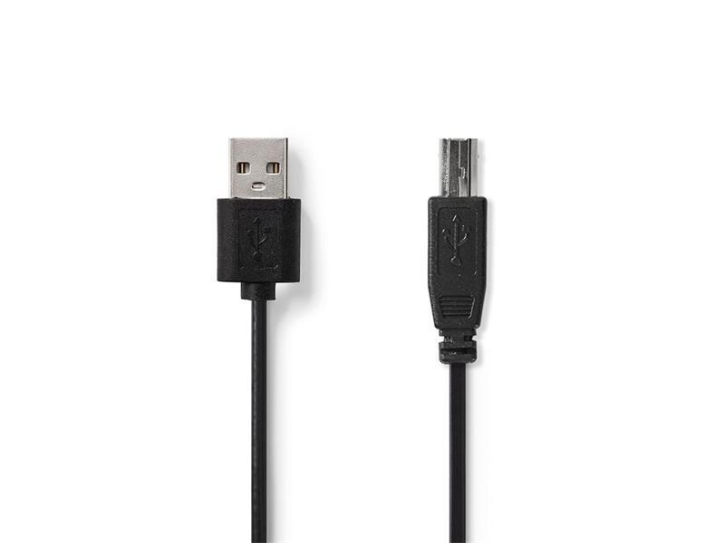 Kabel 1x USB 2.0 A konektor - 1x USB 2.0 B zdířka 2m NEDIS
