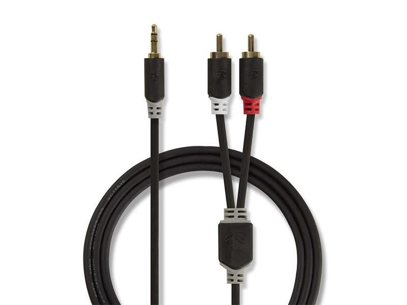 Kabel NEDIS JACK 3.5 stereo/2xCINCH 3m