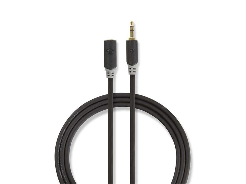 Kabel NEDIS JACK 3.5 konektor/JACK 3.5 zdířka 5m