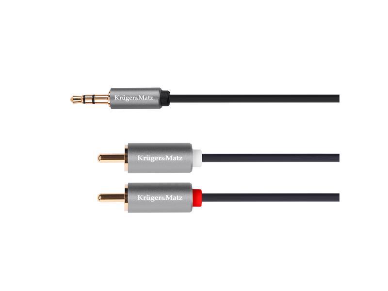 Kabel KRUGER & MATZ JACK 3.5 stereo/2xCINCH 1,8m KM1214 Basic