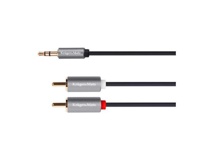 Kabel KRUGER & MATZ JACK 3.5 stereo/2xCINCH 3m KM1216 Basic